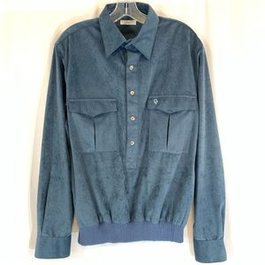 Christian Dior Monsieur Luxe Blue Pullover Shirt